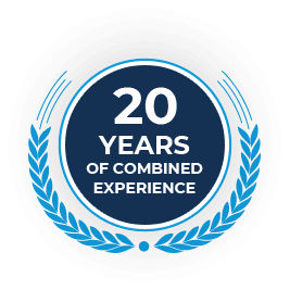 Twenty years logo